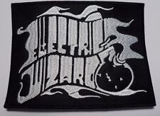 electric wizard white logo EMBROIDERED  PATCH