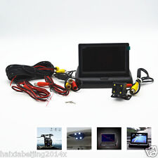 "4 LED HD CCD Cars Off-Road Rear View Camera 4.3"" LCD Foldable Monitor Display"