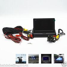 "4 LED HD CCD Cars Off-Road Rear View Camera 4.3"" LCD Foldable Monitor Display"