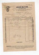 fattura antica - UNIONE MILITARE 1896