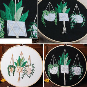 Embroidery Starter Kit With Flower Pattern Cross Stitch Needlework Beginner Kits