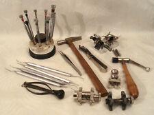 Vintage Watchmaker's Tools Balance Screwdrivers Hammer ect ect