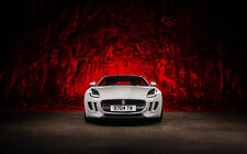 "JAGUAR F TYPE WHITE A4 CANVAS PRINT POSTER 11.7"" x 7.6"""