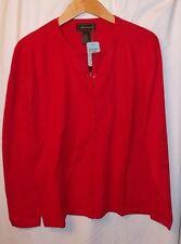 JILLANOVA WOMEN'S ButtonUp Sweater -Red- Size L #314- NEW