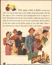 1941 Vintage ad for Schlitz Beer`art Voting retro fashion alcohol  (122617)