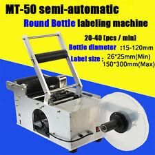 MT-50 Semi-Automatic Round Bottle Labeling Machine Labeler Machine 20-40pcs/min