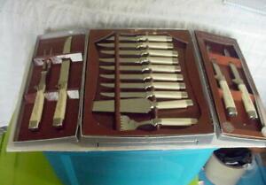 REGENT SHEFFIELD 19 PIECE CUTLERY SET-SS BLADES--ORIGINAL BOX WITH DRAWER NOS