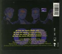 ACE OF BASE All That She Wants 4 TRACK CD EP METRONOME free ww shipping