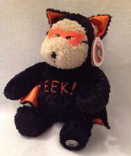 STARBUCKS NWT Bearista Bear Halloween 2003 Bat Cape EEK Black Orange 27th Ed NEW