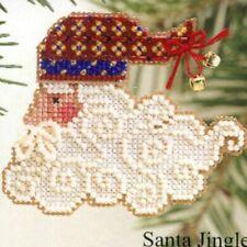 Santa Jingles Charmed Face II Ornament Mill Hill Cross Stitch Bead Kit 2002