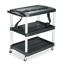 Rubbermaid Commercial Media Master Three-Shelf Open Electronic Media AV - 9T28