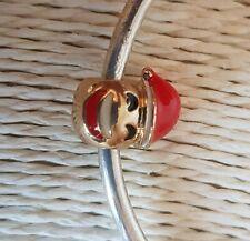 SANTA CLAUS FATHER CHRISTMAS EMOJI CHARM Silver European Charm Bracelet