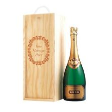 Personalised Engraved Wooden Wine/Whisky/Champagne Gift Box - Your Own Text