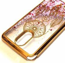 For LG Stylo 3 - GOLD DREAM CATCHER Pink Glitter Stars Liquid Sparkle Skin Case