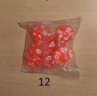 Lot N° 12 7 Dés Polyédrique Jdr rpg Dungeons And Dragons mtg Donjons Et Dragons