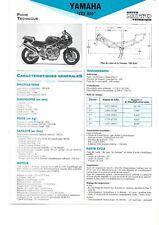 yamaha trx 850 1996  fiche technique revue technique moto TRX 850 1996