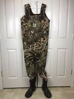 Hodgman Camo Chest Waders Mens XL Hunting Neoprene Thinsulate Boot Size 11