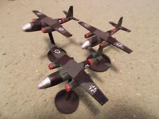 Flames of War 15mm, 1/144 Scale painted German ARADO 234 Jet Aircraft  (3)