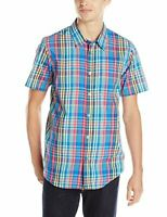 Oakley Men's Crush Short Sleeve Woven Shirt - Electric Blue (Size Small, 2XL)