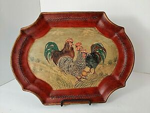 "Decorative Plate Chickens Eggs 12"" X 9"" Farmhouse Country"