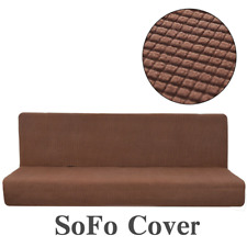 Cubierta Impermeable Stretch Sofá Cama Futón completo Plegable Sin Brazo Elástico Slipcover