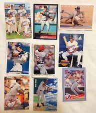9 Baseball Cards-Latin Stars-Conseco-Ripken-Bonds-Jackson