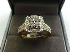 Markenlose Ringe im Cluster-Stil aus Weißgold mit Diamanten