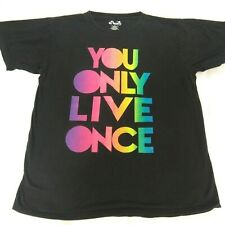 YOLO Women's Size Large You Only Live Once Black T Shirt