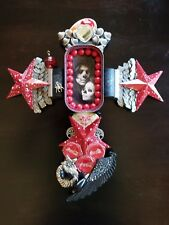 Dia de los Muertos (Day of the Dead) Madonna Wall Art Cross 12-3/8 inches tall