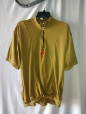 Men's Specialized Body Geometry  Zip brown Cycling Jersey Shirt Short Sleeve L