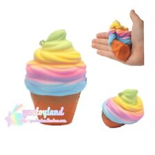 Kawaii Squishy Colossal Rainbow Ice Cream Cone Slow Rising Scented Amazing Toy