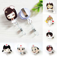 1PC Doctor Nurse Badge Reel Lanyard Clip Retractable Buckle Label ID Card Holder