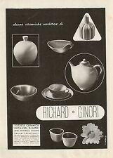 Y0009 Alcune ceramiche moderne RICHARD GINORI - Pubblicità 1938 - Advertising