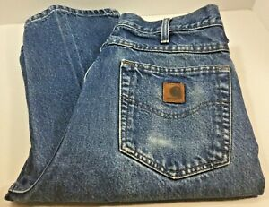 Carhartt Mens Loose Fit 32x36 Blue Jeans Fast Free Shipping!
