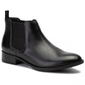 Clarks Ladies Netley Ella Black Leather  Chelsea Boots UK Size 7/41 D