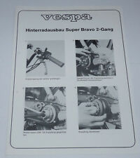 Instructions Roue Arrière Extension-Vespa Super Bravo 2-Gang-PIAGGIO
