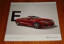 Original 2015 Mercedes Benz E-Class Coupe & Cabriolet Sales Brochure 400 550