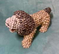 Vintage LION FIGURINE (MADE OUT OF SEA SHELLS) Large Size - Intricate & Detailed