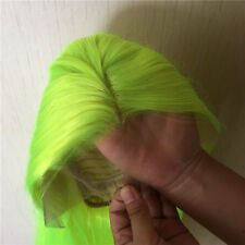 """24"""" Lace Front Wig Handtied Synthetic Hair Silky Straight Light Yellow"""