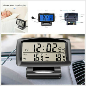 Auto Electronic Internal & External Dual Temperature car Thermometer Alarm Clock