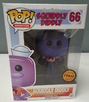 Funko Pop Hanna-Barbera Squiddly Diddly #66 Vinyl Figure CHASE w/ Box Protector