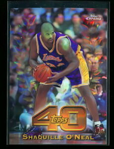 SHAQUILLE O'NEAL SHAQ 1997-98 TOPPS CHROME 40 REFRACTOR RARE LAKERS