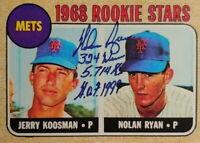 1968 Nolan Ryan #177 Topps HOF Rookie Card Reprint Brand New Mint Condition!