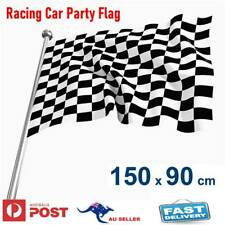 Checkered Black & White Chequered Racing Car Party Flag 150x90cm 5x3ft F1 F3