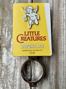 RARE! Little Creatures Bright Ale Beer Tap Top Deca And Mount
