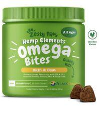 Hemp Elements Omega Bites for Dogs With AlaskOmega Fish Oil, 90 ct Soft Chews