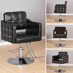 Adjustable Black Hydraulic Barber Hair Salon Chair Hairdressing Beauty Office