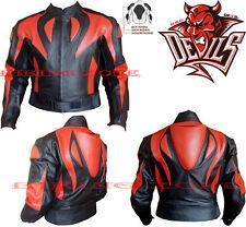 Diablo Rojo Estilo Para Hombre CE aprobado Armadura moto / moto chaqueta de cuero