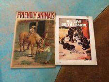 (2) Antique Children's Books 1928 FRIENDLY ANIMALS & WE LIVE ON THE FARM 1936