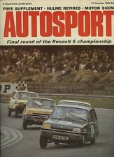 Autosport October 17th 1974 *BMW 2002 Turbo Road Test & Vallelunga F2*